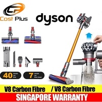 DYSON V8 Carbon Fibre CORDLESS VACUUM CLEANER - 2 YEARS SINGAPORE WARRANTY