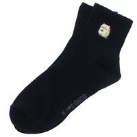 日貨 角落生物  貓咪 襪子 刺繡襪子 刺繡 長襪 中筒襪 兒童襪 卡通襪 角落小夥伴 正版 J00016312