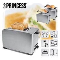 【PRINCESS 荷蘭公主】不鏽鋼多功能烤麵包機(142356)