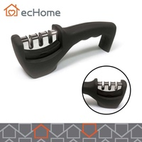 ecHome Sharpener Chef Razor Kitchen Ceramic Tools Blades Metal Gray
