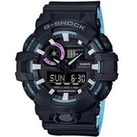 CASIO G-SHOCK 霓虹藍運動錶 GA-700PC-1A