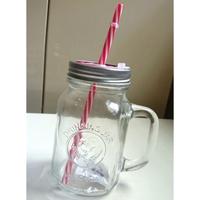 (內有優惠) 梅森玻璃杯 - 附吸管/密封兩用經典公雞款 600ml
