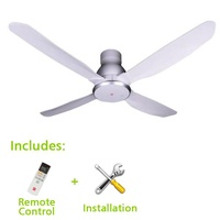 KDK Ceiling Fan 56inch with Installation, 4 Blades, Remote Control