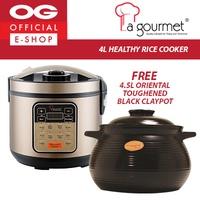 La Gourmet 4L Healthy Rice Cooker + FREE Oriental Toughened Black Claypot