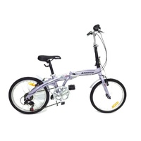 ALEOCA จักรยานพับได้ Alloy รุ่น Specifiche ล้อ 20 นิ้ว, 6 Speed (สีม่วง)
