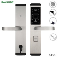 RAYKUBE Fingerprint Lock Digital Electronic Door Lock For Home Anti-theft Intelligent Lock Password & RFID Card R-FX1