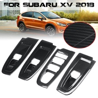 ABS Carbon Fiber Style Interior Window Switch Panel Cover Trim For Subaru XV 2018