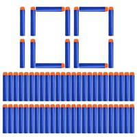 100pcs Refill Darts Bullets For Nerf N-strike Elite Series Blasters Children Toy Gun Blue Soft Bullet Foam Guns Accessories !