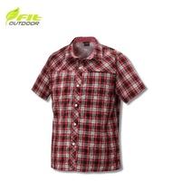 [現貨]FIT 維特 男 格紋吸排抗UV 短袖襯衫 魅力紅/GS1201/吸濕排汗/抗UV/排汗衫