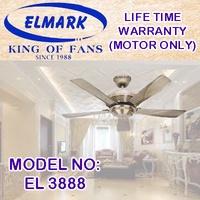 ELMARK EL 3888 V6 42INCH AB-GM-SSA-WH CEILING FAN