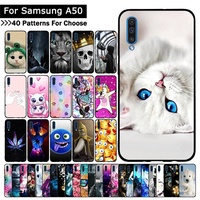 store For Samsung Galaxy A50 Case Cartoon Animal Fashion Protective cover Luxury TPU Slicone cases m