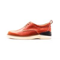 Chainloop SCOT 德比休閒鞋 氣墊鞋墊 運動大底 台灣製造 真皮鞋面 橘色小羊皮