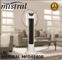 Mistral Tower Fan with Remote Control MFD4880R / FREE 1 Year Warranty