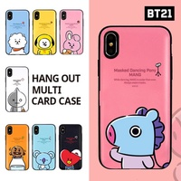 【BT21 x LINE FRIENDS】 BTS BangTan iPhone Galaxy Hang Out Multi Card Case GIFT!