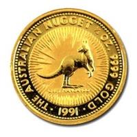 1991 澳洲 袋鼠 金幣 0.25盎司 -Shiny炫麗珠寶