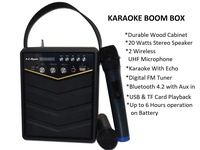 AC Ryan Portable Karaoke BoomBox w/2 wireless Mics