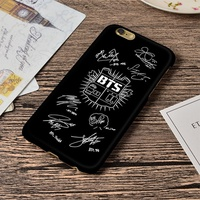 BTS Army Signatures Black iPhone Case For iPhone 5 5S SE 6 6S 6 Plus 6S Plus 7 7 Plus 3D Wrap Art Ca