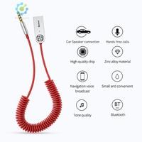 ✨Hik✨Baseus USB Bluetooth 5.0 Adapter Audio Cable for Car AUX Receiver Speaker