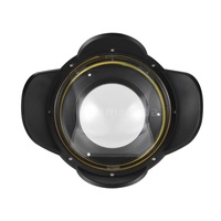 G&M MEIKON Underwater Camera 200mm Fisheye Wide Angle Lens Dome Port Case Shade Cover 60m/ 197ft Wat