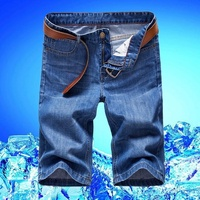 牛仔短褲 男五分褲中褲薄款牛仔褲男士直筒馬褲七分褲子 錢夫人小鋪
