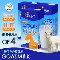 📣 Bundle of 4 - Delamere Dairy UHT Whole Goats Milk 1 Litre Each