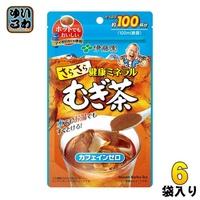 伊藤園颯颯健康的礦物質mugi茶80g 6袋入[麥茶咖啡因零立即麥茶] Iwayuru softdrink no omise