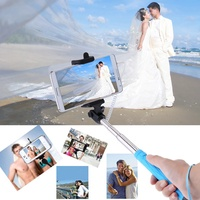 Foldable Portable Extendable Mini Wired Cable Remote Control Selfie Self-Timer Monopod Pole Stick fo