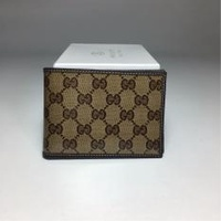Gucci wallet GUCCI 292534 men's two fold wallet in brown logo