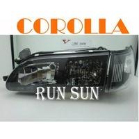 ●○RUN SUN 車燈,車材○● 全新 豐田 93 94 95 96 97 COROLLA 卡羅拉 美規黑框大燈 角燈