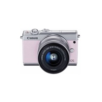 Canon EOS M100 Camera Kit 15-45 with 15-45mm Lens - Pink