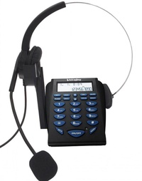 Promotion!!! Business office Dialpad with Headset, Call Center Telephone Tone Dial Key Pad and RJ9 Plug headset with microphone