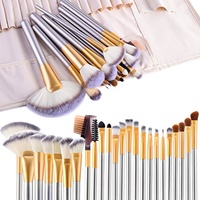 [VANDER LIFE] Make up Brushes,  24pcs Premium Cosmetic Makeup Brush Set for Foundation Blending Blus