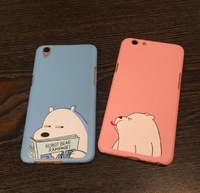 Couple we bare bear Phone Cover Skin Hard Case for oppo [Free Delivery