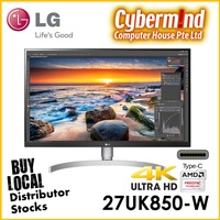 """(PROMO) LG 27UK850-W 27"""" 4K IPS Monitor with HDR 10 (Local Distributor Stocks / LG Singapore on-site warranty)"""