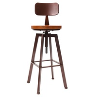 Industrial Vintage Rustic Bar Stool Retro Kitchen Dining Back Counter Chair Home Decorations