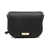 (Kate Spade New York) Kate Spade New York Laurel Way Carsen Leather Cross-body Bag (Black)-WKRU4091