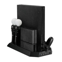 Dual Cooling Station Vertical Stand with Gamepad Charging Dock for Playstation 4 PS4 VR PS4 Pro
