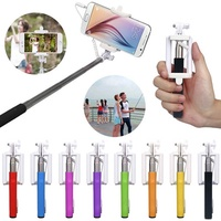 Fashion Mini Extendable Handheld Fold Self-portrait Stick Holder Monopod