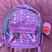 BNWT Smiggle Purple Panda teeny tiny backpack