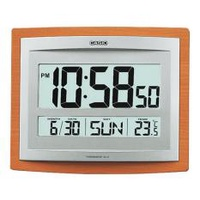 Casio Alarm Clock ID-15S-5D Thermometer Snooze Digital Brown Calender Clock