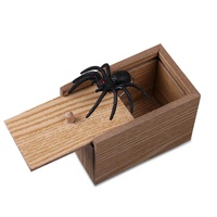 Bumblebaa Scare Surprise Box with Spider Hilarious Scare Box Spider Prank Wooden Scarebox Joke Prank Box April Fools' Day Gag Gift Prank for Boys, Girls, Adults