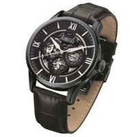 Arbutus Men's Black Leather Strap Watch Arbutus AR702BBB