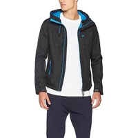 Superdry Mens Hooded SD-Windtrekker Jacket Black Denby , Black - Small
