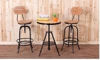 《Chair Empire》一桌二椅 Loft風 法國工業風 水管 茶几 鐵藝桌椅 做舊圓桌 旋轉椅 旋轉桌
