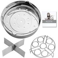 [AOZITA] MSB8 - Steamer Basket Rack Set for Instant Pot Accessories 8 Qt- Fits Instant Pot 8 Qt Pres