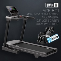 Twin H ACE 801 Motorised foldable treadmill with WIFI Multimedia Home Gym Professional Commercial
