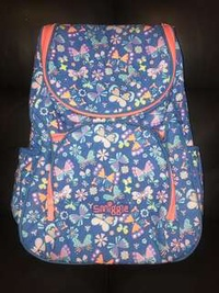 Smiggle blue floral backpack