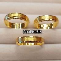 แหวนทองครึ่งสลึง 1.9 กรัม ทองแท้ 96.5% สายรุ้ง