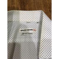 皮爾卡登 黑色圓點修身白襯衫 M號 (九成新)