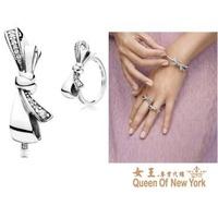 女王美日代購 Pandora 潘朵拉 鑲鑽新款蝴蝶結戒指 Charms 美國正品代購